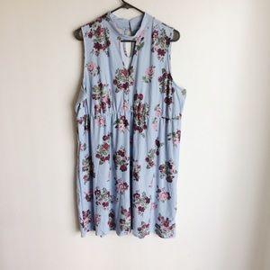 Amelia James Blue Floral Print Dress NWTS Size 3X